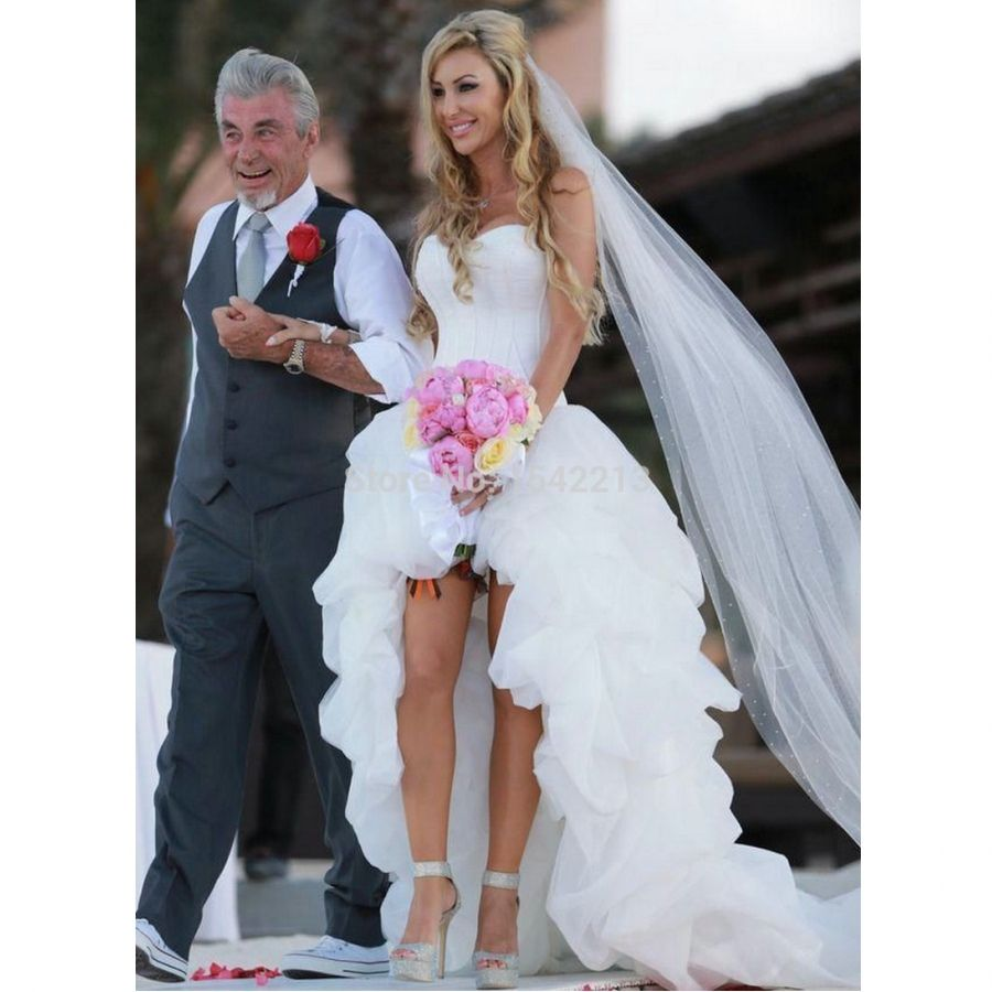 Suosikki 2017 High Low Short Front Long Back Beach Wedding: Https://www.aliexpress.com/item-img/White-Beach-Wedding