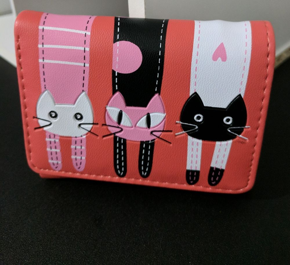 Ladies women girls red cat wallet clutch purse handbag  Unbranded   MiniWallet d56468eff4be2