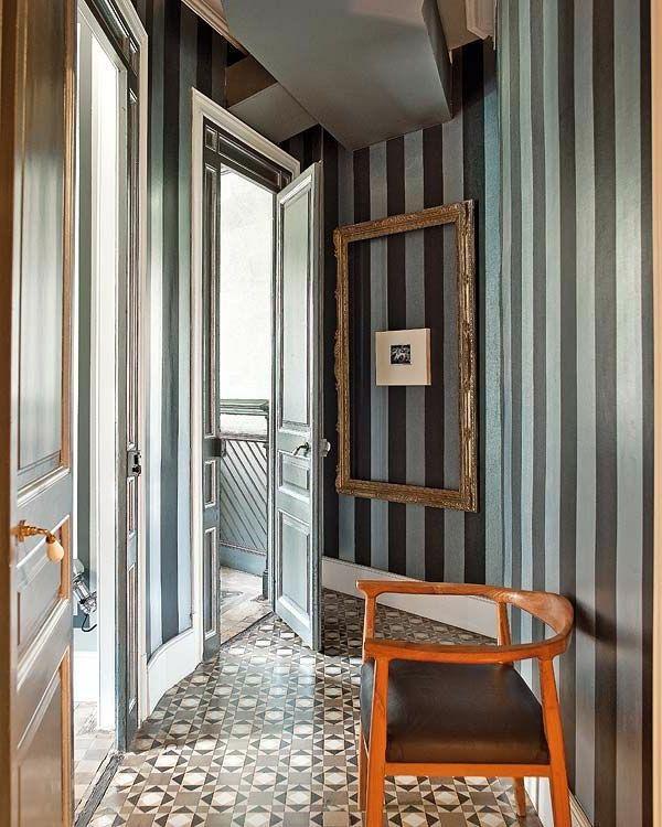 Kreative Wandgestaltung Mit Farbe: Hausflur Originell Ausstatten-Wand Mit Streichen