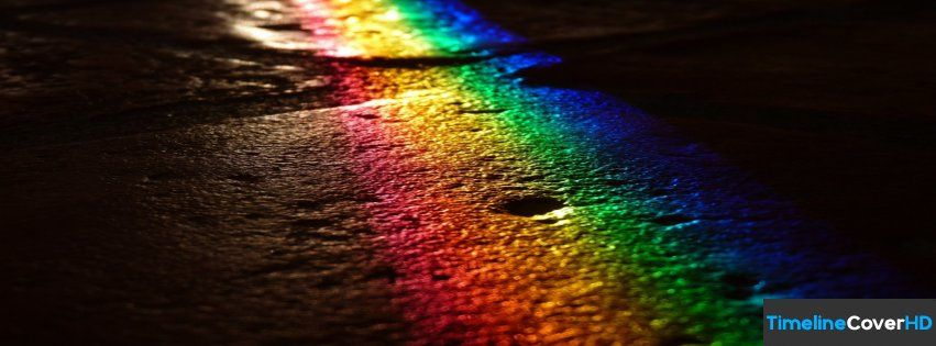 Rainbow Light Facebook Timeline Cover Hd Facebook Covers