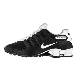 Nike Men s Shox NZ SE Black White White Wolf Grey Running Shoe - 20089406 -  Overstock - Great Deals on Nike Athletic - Mobile ca4e53c40