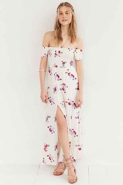 a126e7c89a8 MINKPINK Falling Blooms Off-The-Shoulder Maxi Dress