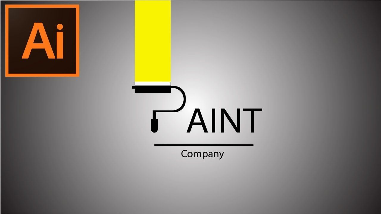 Adobe Illustrator Cc Tutorial How To Make A Paint Company Logo Painting Logo Company Logo Graphic Design Tutorials