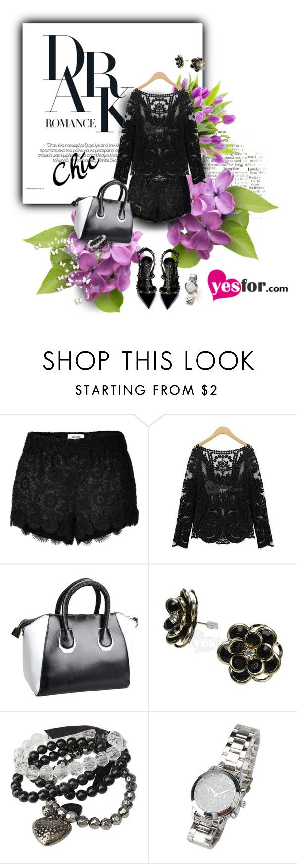 """""""Style with Yesfor.com"""" by hamaly ❤ liked on Polyvore featuring Moschino, Valentino, vintage and yesfor"""