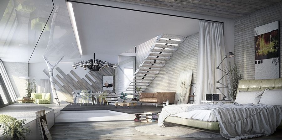 Industrial Bedroom Ideas, Photos Trendy Inspirations Industrial - schlafzimmer poco domäne