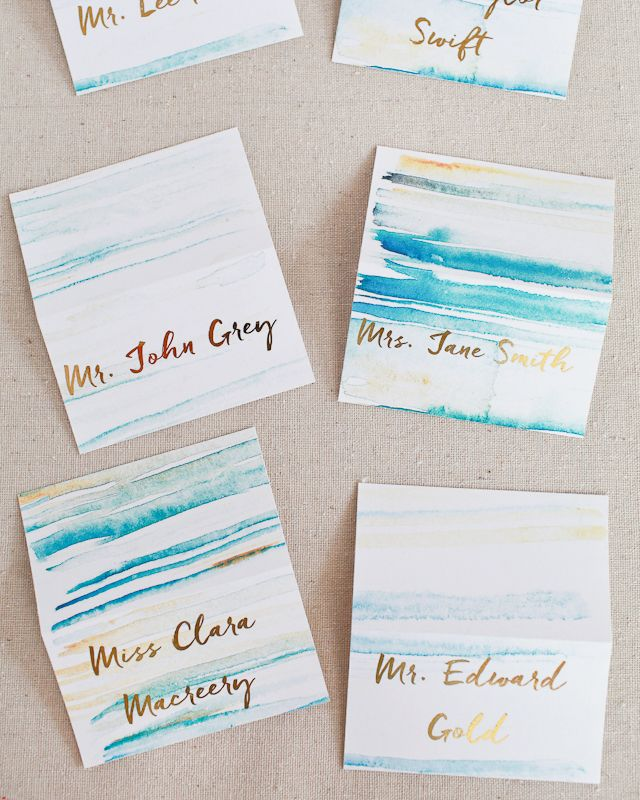 Diy Gold Foil Place Cards Gold Diy Place Cards Wedding Stationery