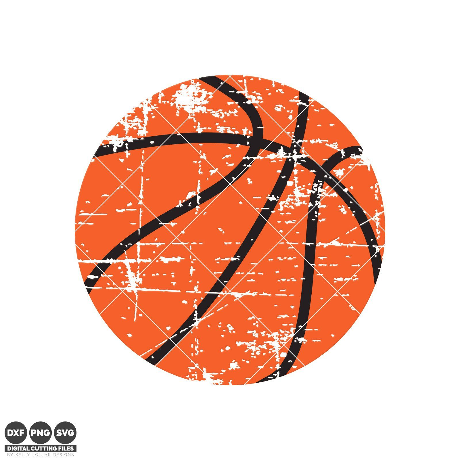 Distressed Basketball svg file perfect for a retro vibe t