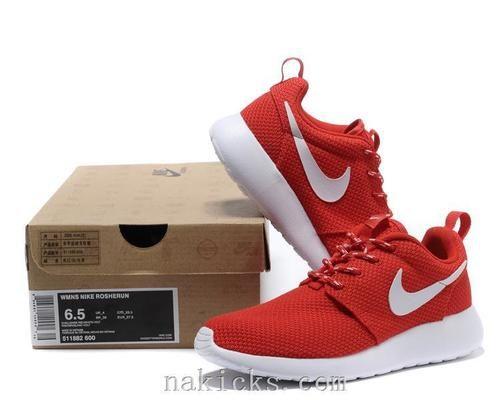 nike free running shoe red pinstripe
