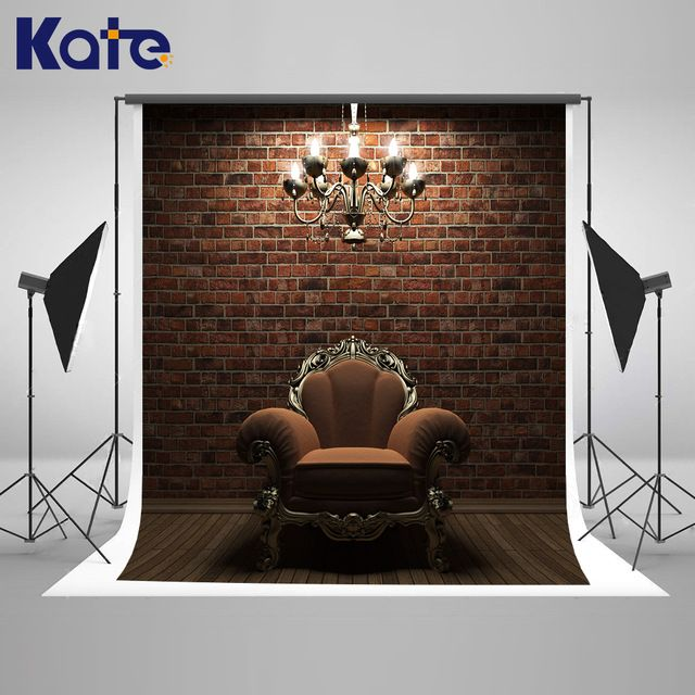 Kate Interior Wedding Background Continental Sofa and Chandelier Solid Brick Wall Wedding Photo Large Size Seamless Photo