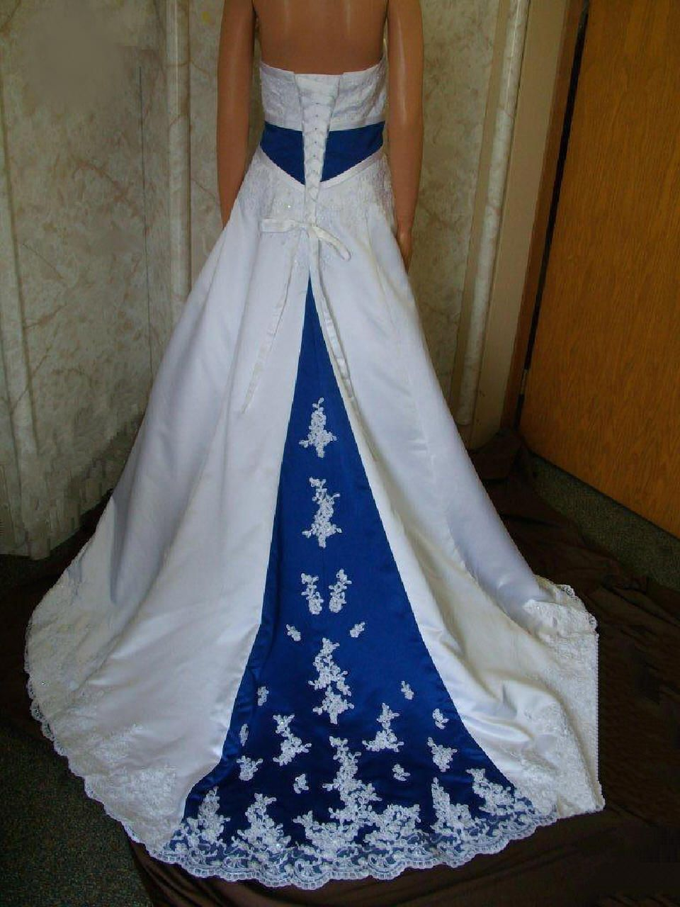 Strapless empire aline band with royal blue winter pinterest
