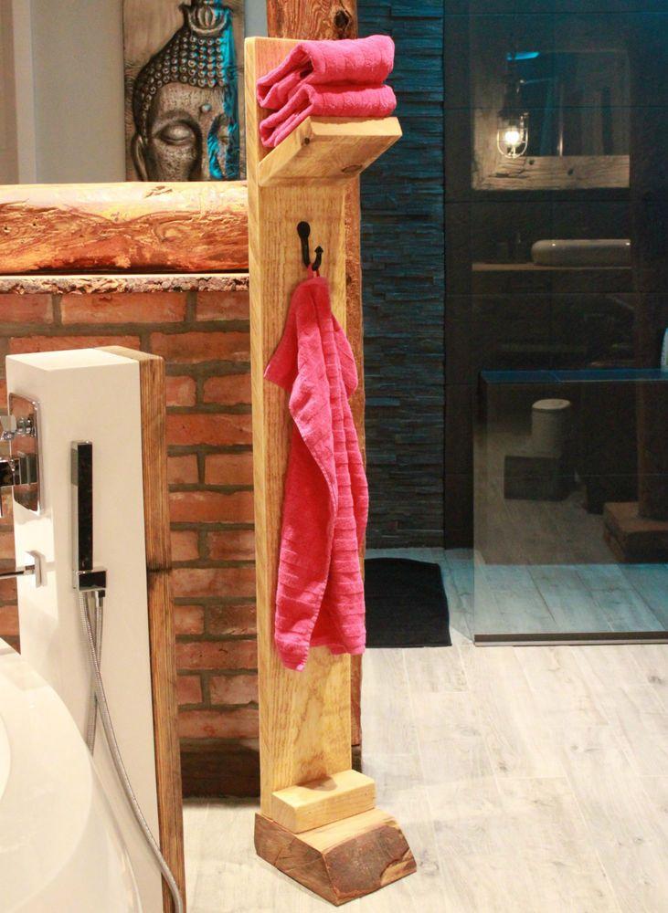Handtuchhalter bad regal handtuch haken halter freistehend handtuchst nder holz bad in 2019 - Handtuchhalter freistehend ...