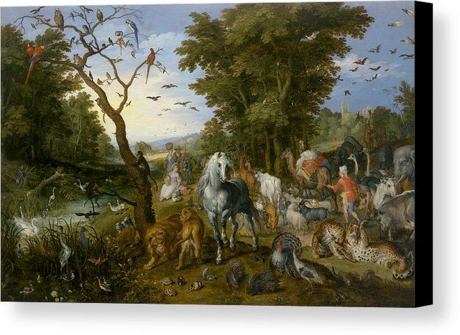 Jan Brueghel the Elder: The Entry Of The Animals Into Noah's Ark canvas print by Jan Brueghel the Elder.B...