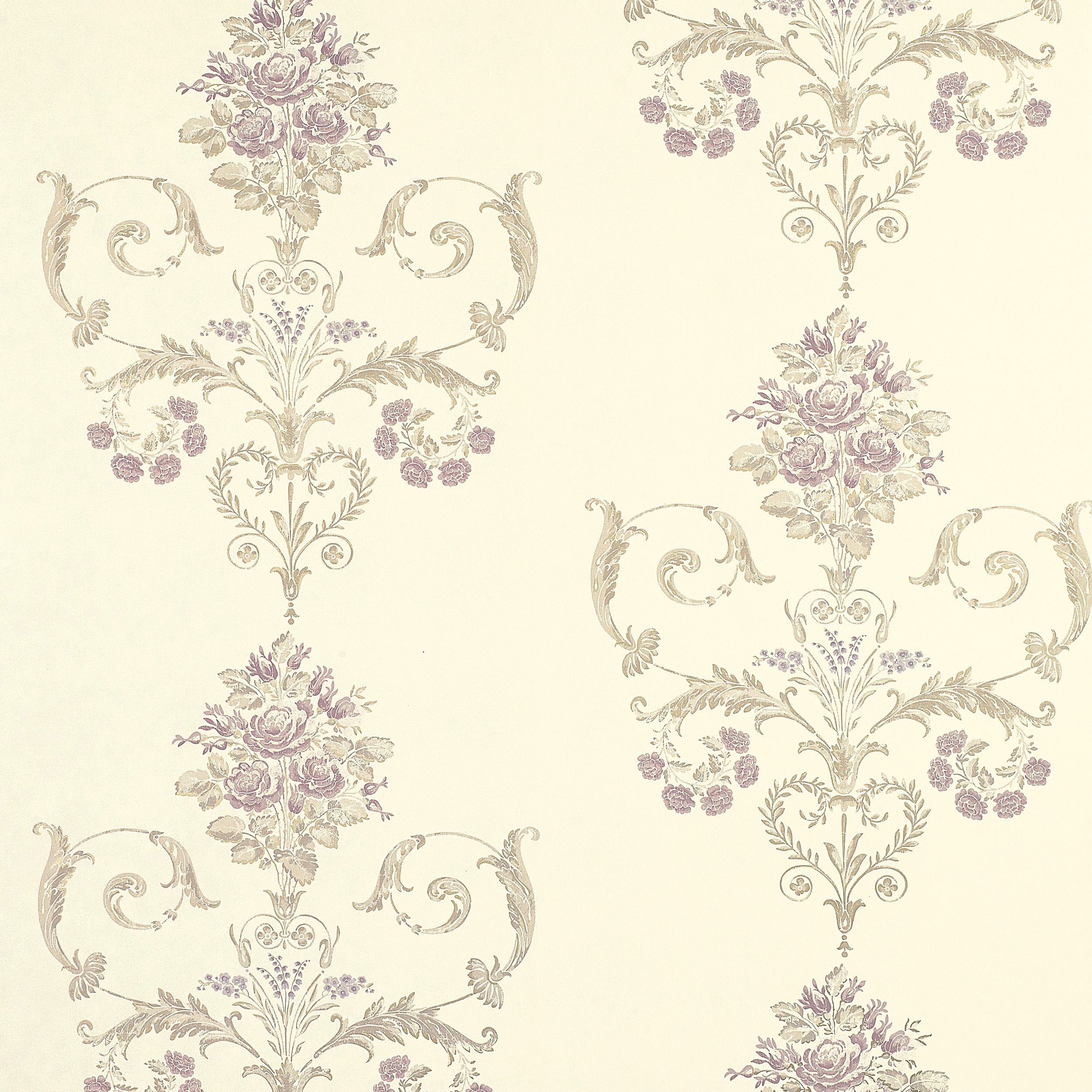 Henrietta Lavender Floral Wallpaper At Laura Ashley Floral
