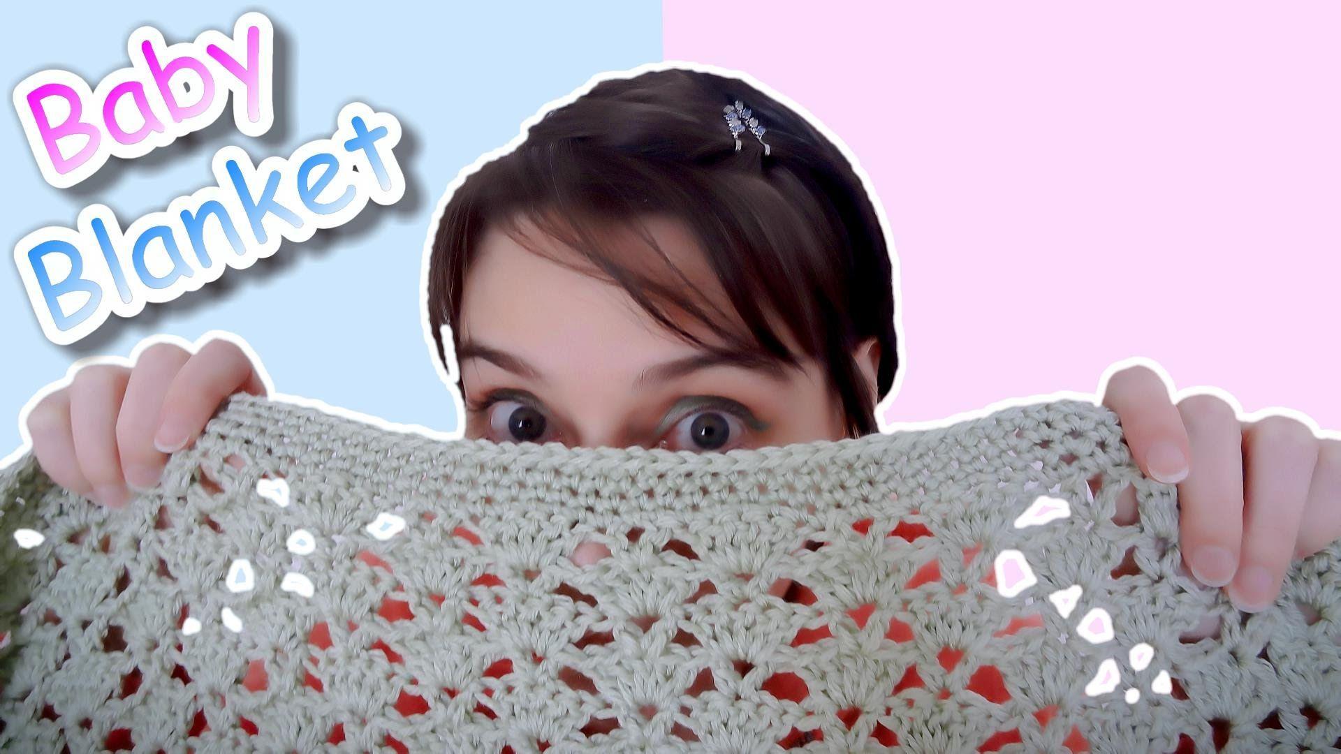 Crochet Baby Blanket - Easy Fan Stitch Pattern (Uses about 3 skeins ...