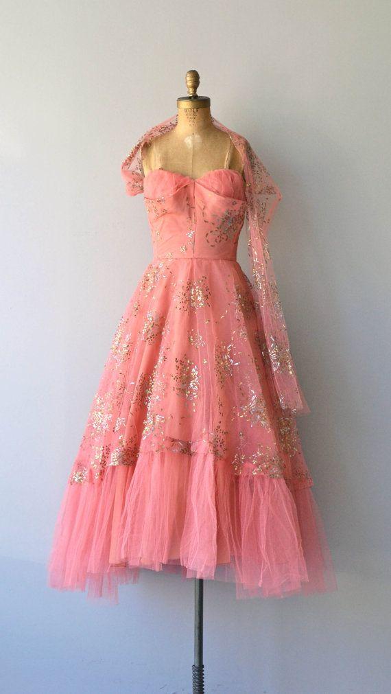 Fool\'s Gold dress | vintage 1950s dress • formal 50s dress | Bälle ...
