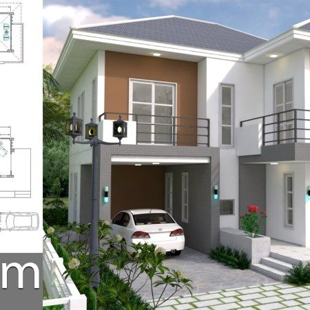 One Story House With 3 Bedroom Plot 36x50 Samphoas Plan Small House Design Modern House Plans House Plans