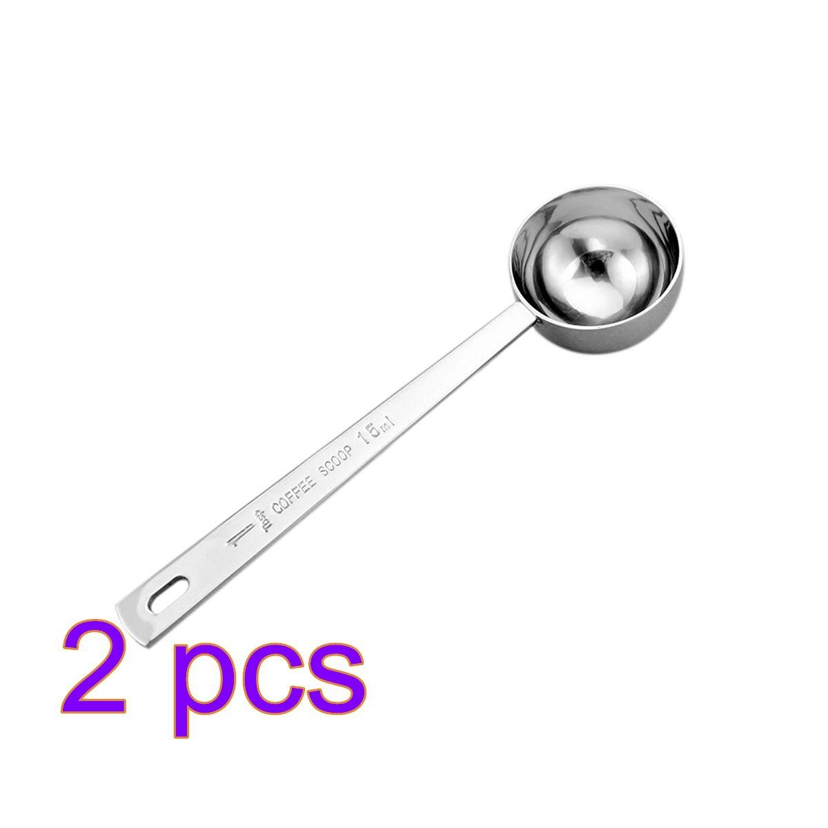 Set of 1 Stainless Steel 1 Tablespoon Measuring Coffee Scoop Spoon