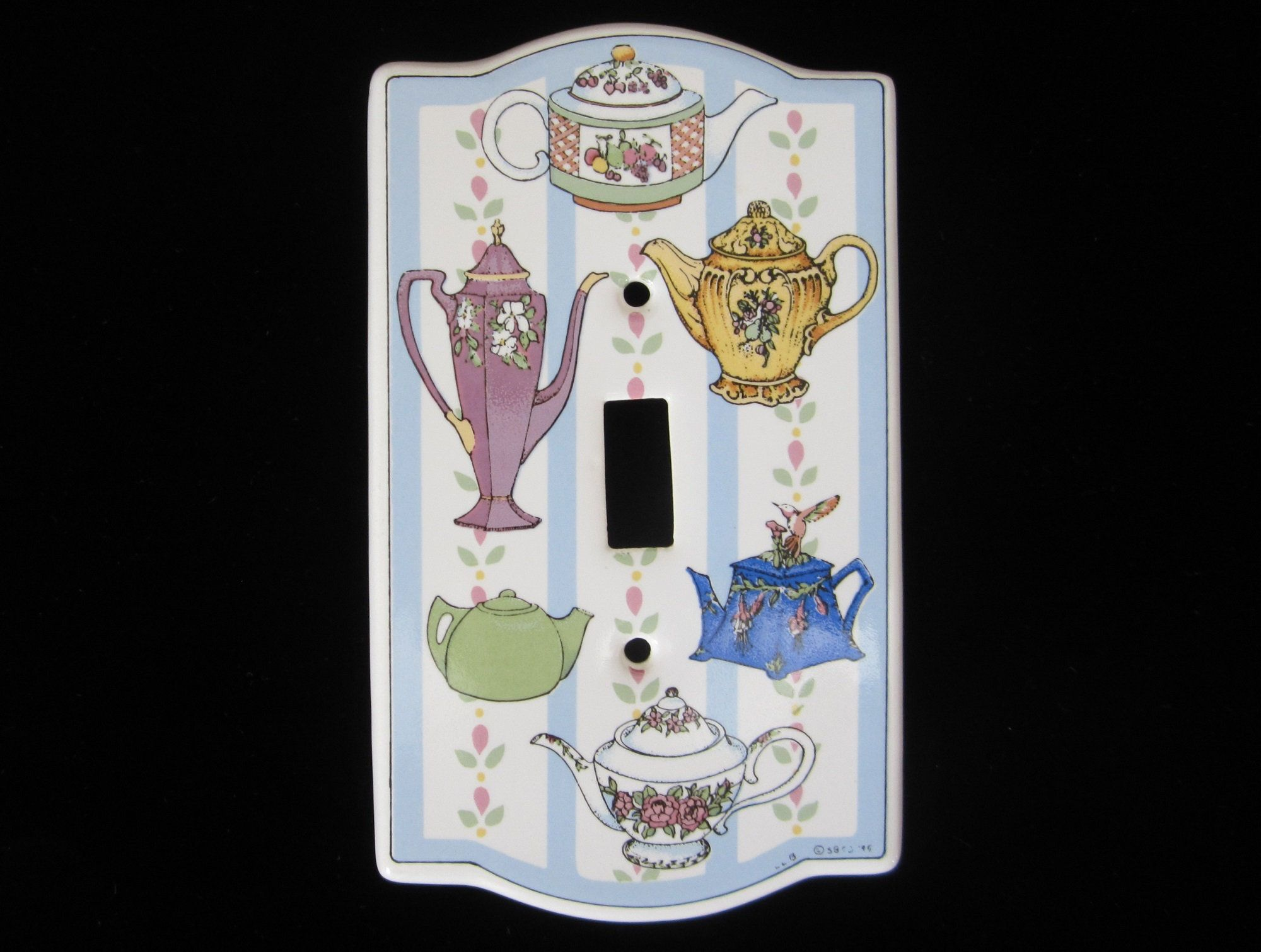 Artisan-crafted Ceramic Cover Plates Single Toggle Light Switch Plate