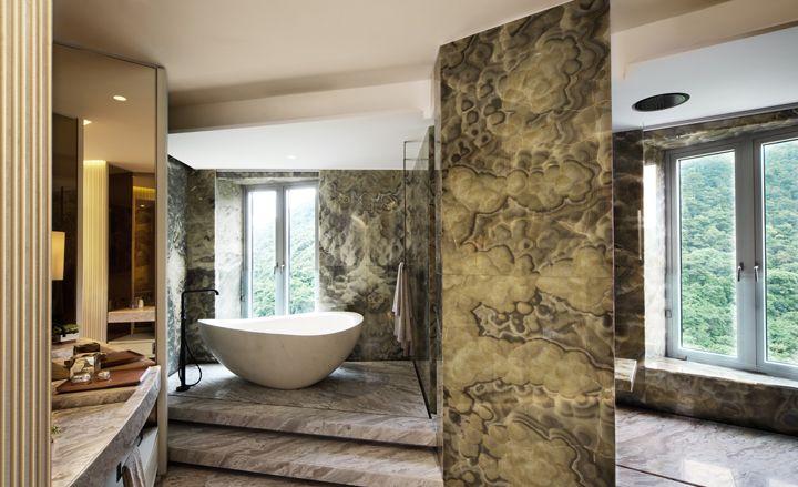 Yabu Pushelbergs Show Apartment At The Opus Hong Kong Master Bathroom DesignsMaster BathroomsYabu PushelbergInterior ArchitectureDesign