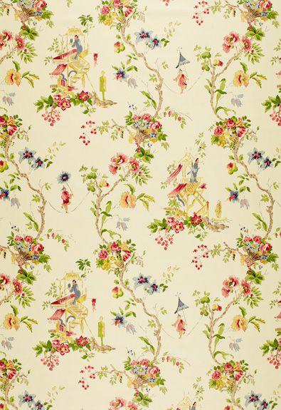 Claydon House Chinoiserie Schumacher Fabric