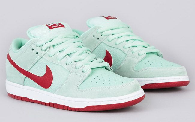 sale retailer 6724e ff613 Nike SB Dunk Low Pro - Medium Mint / Gym Red | KicksOnFire ...