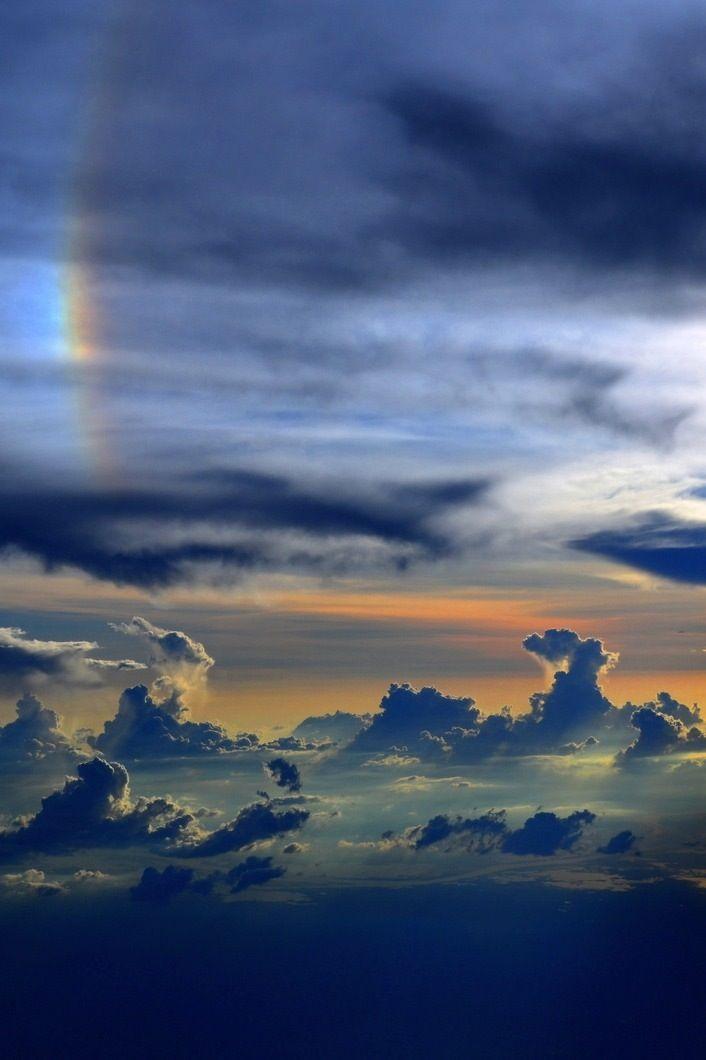 Arco Iris Entre Nubes by Enrique Colombo