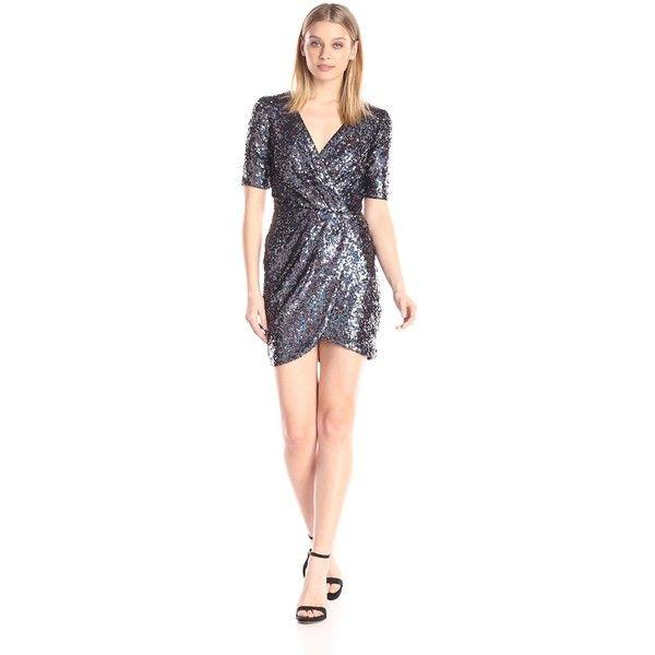 French Connection Women\'s Lunar Sparkle Shortsleeve Sequin Dress ...