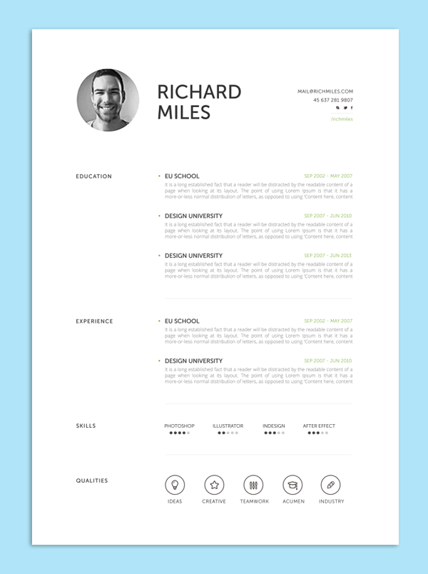 9 creative resume design tips with template examples - Structured Resume