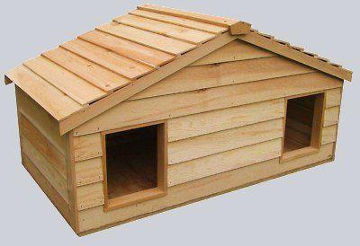Small Duplex Insulated Cedar Wood Outdoor Cat House