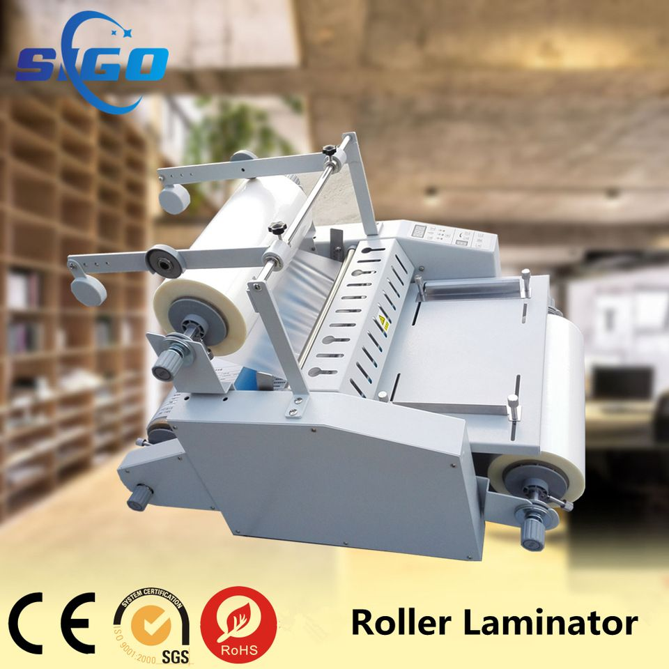 High Gloss Business Card Laminating Film Machine With Big Steel Roll