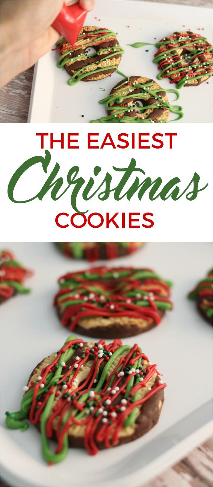 festive and totally simple christmas cookies have pretty cookies for the holidays the easy way - Simple Christmas Cookies