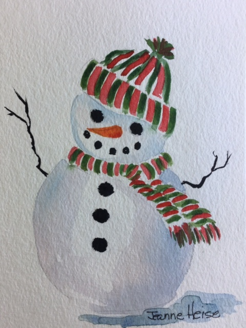 """Watercolor Christmas Cards Made Easy"""" (With images"""