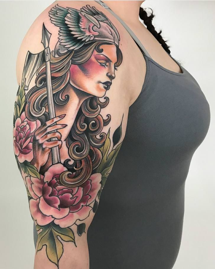 My valkyrie done by mo malone at ragtime tattoo in st