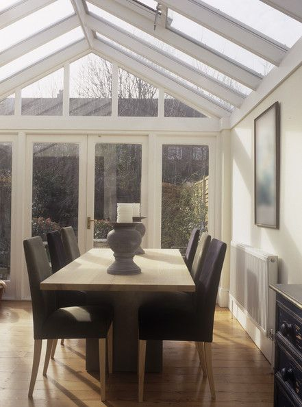 Modern Conservatory Dining Room Conservatory Dining Room Rustic