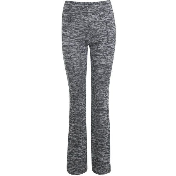 Miss Selfridge Petites Grey Flare Trouser ($9) ❤ liked on Polyvore featuring pants, mid grey, petite, grey pants, viscose pants, petite trousers, rayon pants и gray trousers