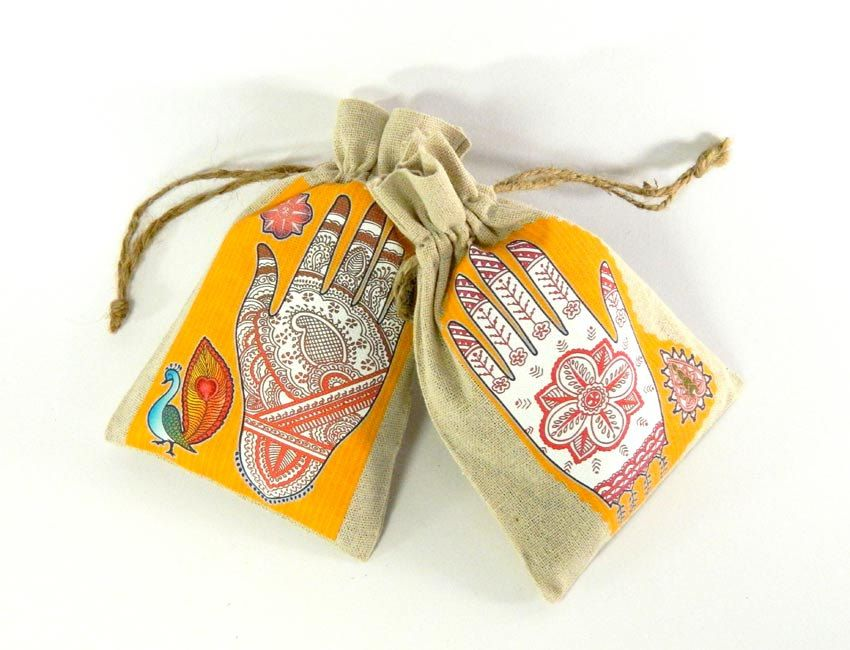 Asian Mehndi Party : Mehndi party wedding favor bags south asian indian bridal shower