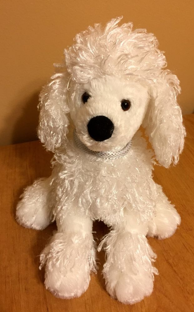 Gund French Poodle Puppy Dog White Plush Collectible Toy Tags