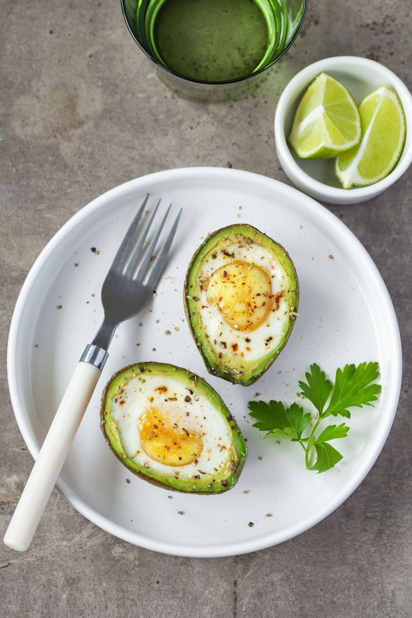 Air Fryer, Air Fried, Baked Avocado Eggs Recipe in 2020