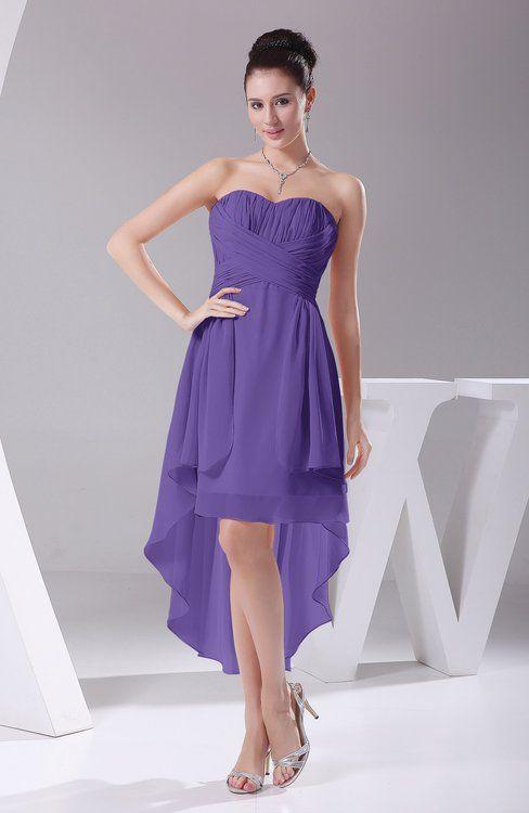 510171d49bc6c Lilac Hawaiian A-line Sleeveless Chiffon Tea Length Ruching Evening Dresses