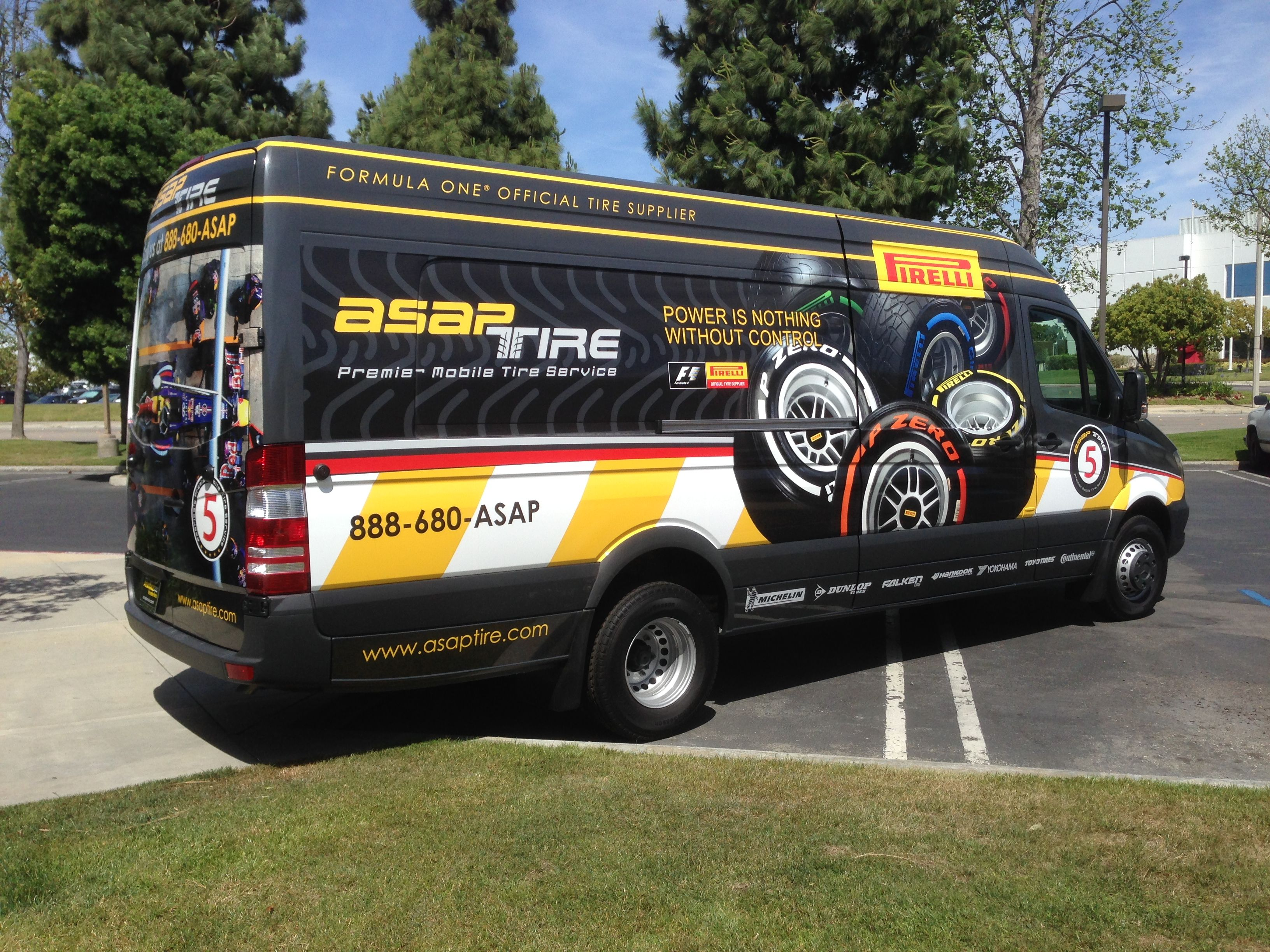 ASAP Tire Car Wrap Make your brand more mobile with your own car