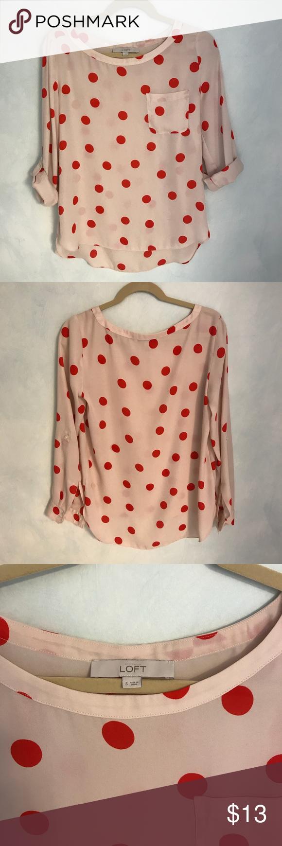 Loft polka dot blouse my posh picks pinterest lofts