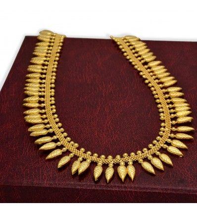 8cb1fa676df2 Kerala traditional gold plated Mullamottu Mala