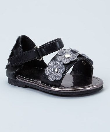 Love this Black Sparkle Daisy Sandal by Xeyes on #zulily! #zulilyfinds