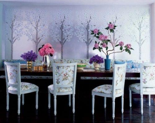 elegante esszimmer design ideen feminin grell extravagant stühle - esszimmer design ideen
