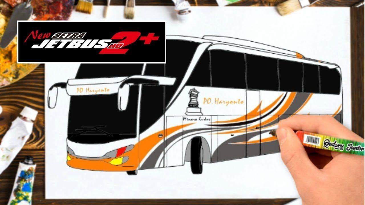Belajar Menggambar Bus SHD 2 Haryanto