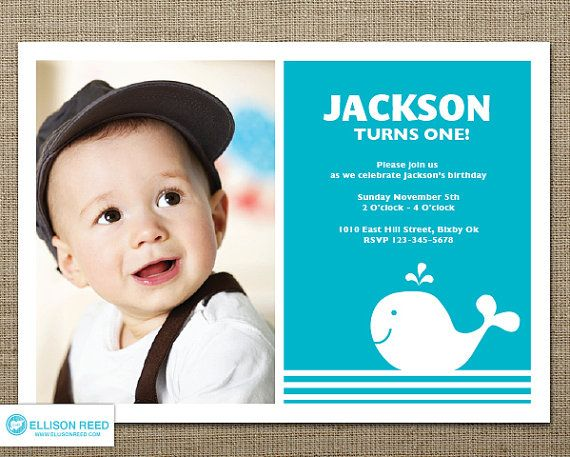 whale invitation 1st birthday invitation by ellisonreed on etsy, Birthday invitations