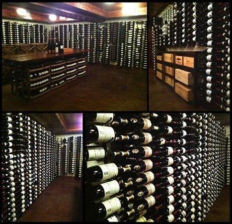 Metal Vintage View Wine Racking Retail Wine Cellar Cooling