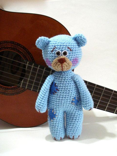 Pattern, Teddy Bear Pattern, Crochet Tutorial, Amigurumi Teddy Bear ...