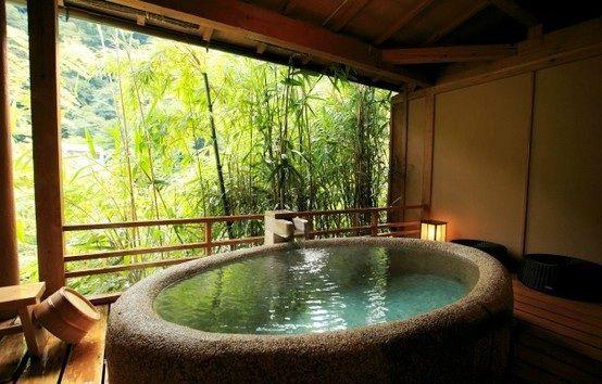 Un Bano Japones Japanese Bathroom Japanese Bathtub Bathroom Spa