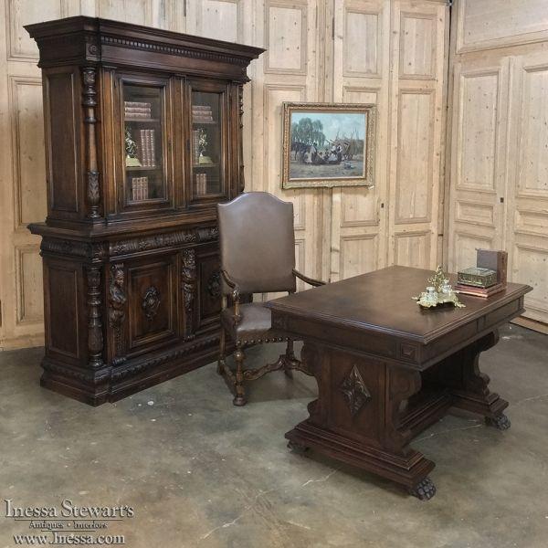 Antique Furniture | Antique Bookcases | Antique Italian Walnut Neoclassical  Walnut Bookcase | www.inessa - Antique Italian Walnut Neoclassical Walnut Bookcase Walnut